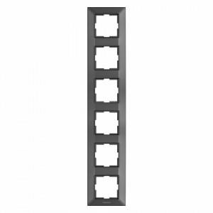 Rama 6 module verticala IP20, Grafit, Panasonic Arkedia Slim