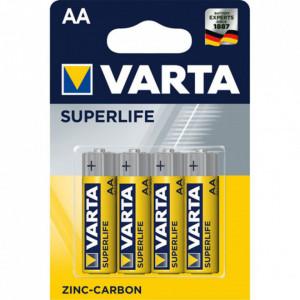 Set 4 baterii R6 AA Zinc Carbon, Varta Superlife