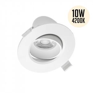 Spot led rotund incastrat (ST) orientabil, 10W, lumina zilei 4200K, 800 lm, GTV