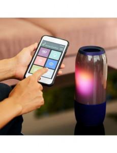 Boxa Bluetooth LED RGB portabila, slot microSD, jack 3.5mm, 3 ore, albastra, V-TAC