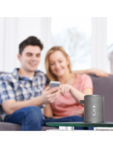 Boxa Bluetooth portabila, slot microSD, jack 3.5mm, 6 ore, gri, V-TAC
