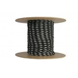 Cablu textil 2x0.75, negru-argintiu