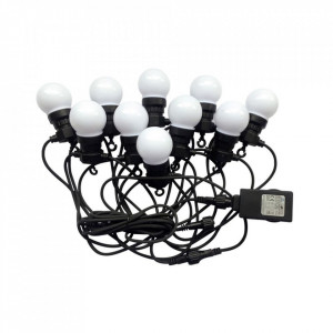 Ghirlanda luminoasa 10 becuri x 0.5W, 5 metri, lumina rece(6000 K), protectie IP44, V-TAC