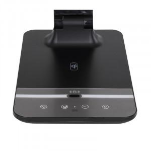 Lampa de birou LED 9W, incarcare wireless, dimabila, temperatura de culoare ajustabila, negru, 58425B Globo