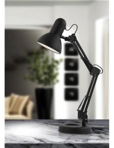Lampa de birou metalica neagra, 1 bec, dulie E27, Globo 24880