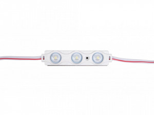 Modul 3 leduri 1.5W, 12 V, IP65, lumina calda 3000 K, 70x15mm, Optonica