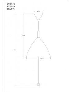 Pendul alb, 3 becuri, dulie E27, Globo 15325W
