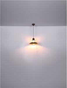 Pendul metalic maro, 1 bec, dulie E27, Globo 15355H