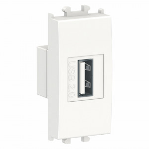 Priza incarcare USB, max 2.1A, 1 modul, alba Schneider Easy Styl
