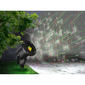 Proiector pentru exterior cu laser, 1000 de puncte, cu telecomanda, 32002 Globo