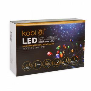 Sir luminos 100 leduri, 10 metri, 7 programe, 6W, multicolor Kobi