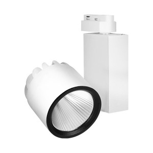 Spot LED pe sina, 30W, lumina calda(3000 K), 2600 lm, alb, Braytron