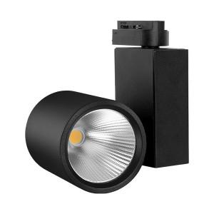 Spot LED pe sina, 30W, lumina rece(5000 K), 2660 lm, negru, Braytron Plus