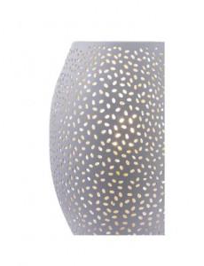 Veioza metalica argintie, 1 bec, dulie E27, Globo 24002W