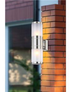 Aplica de exterior otel inoxidabil sticla, 2 becuri, dulie E27, Globo 32014-2