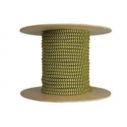 Cablu textil 2x0.75, galben-negru