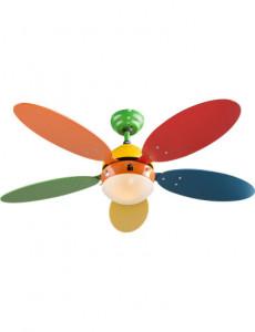 Candelabru cu ventilator Globo 03180, 1 bec, dulie E14, multicolor
