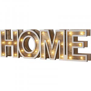 """Decoratiune LED """"HOME"""", alimentare cu baterii(neincluse), 29975 Globo"""