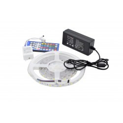 Kit Banda LED 5050 RGBW Alb Rece 60 leduri/metru 5 metri+ alimentare + controller