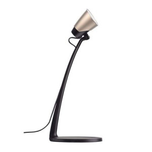 Lampa de birou design LED 4.5W, abajur rabatabil, lumina neutra(4000k), culoare negru sampanie, Emos