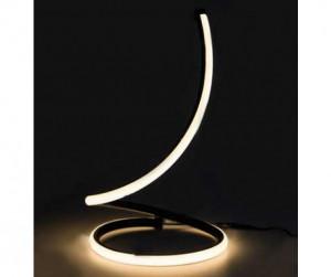 Lampa de birou design spirala 17W, lumina calda, 1300Lm, negru, V-TAC