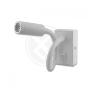 Lampa de perete flexibila, 3W, cu intrerupator, lumina neutra