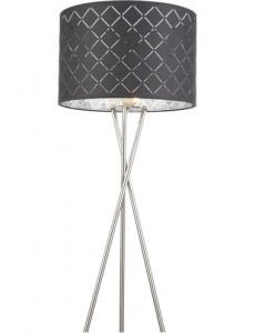 Lampadar negru argintiu, 1 bec, dulie E27, Globo 15228S1