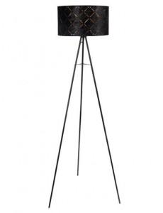 Lampadar negru auriu, 1 bec, dulie E27, Globo 15334S