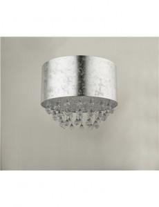 Plafoniera argintie cu cristale, 1 bec, dulie E27, Globo 15188D3