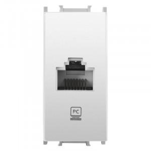 Priza calculator RJ45 1 modul Thea Modular Panasonic, Alba