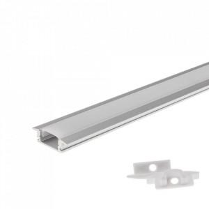 Profil aluminiu banda led, incastrat, 1 metru, Optonica