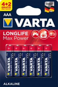 Set 6 baterii R3 AAA Alkaline, Varta Max Power