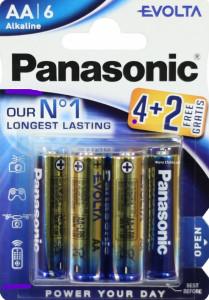 Set 6 baterii R6 AA Alkaline, Panasonic Evolta