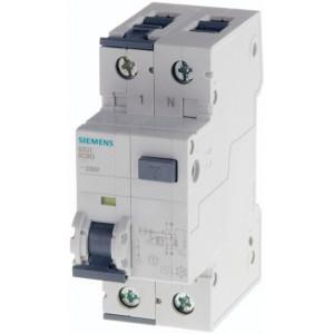 Siguranta automata cu protectie diferentiala 16A P+N, curba B, tip A, 10mA, 10kA, Siemens