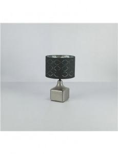 Veioza ceramica argintie, 1 bec, dulie E27, Globo 21613