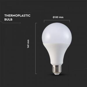 Bec led 20W(150W) cip Samsung, 5 ani garantie, E27, 2450 lm, A+, lumina rece, V-TAC