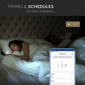 Bec Smart LED, E27, 11W(75W), 1055 lm, multicolor, compatibil Google Home si Alexa, V-TAC