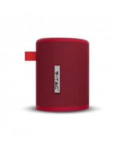 Boxa Bluetooth portabila, slot microSD, jack 3.5mm, 6 ore, rosie, V-TAC