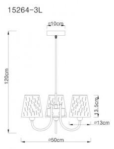 Candelabru negru, 3 becuri, dulie E14, Globo 15264-3L