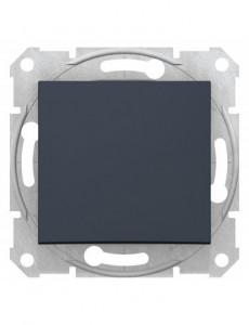 Intrerupator simplu, 10A, IP20, Grafit, Schneider Sedna