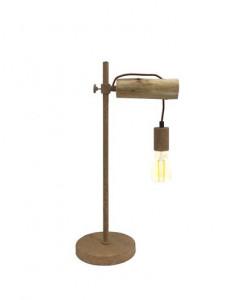 Lampa de birou aramie din lemn, 1 bec, dulie E27, Globo 15327TN