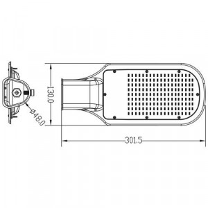 Lampa stradala led 30W, IP65, ST81, Braytron, lumina rece