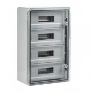 Panou 35x50x19 ABS 12x3 sigurante, neechipat, IP65 usa transparenta