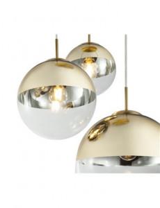 Pendul auriu mat, 3 becuri, dulie E27, Globo 15855-3