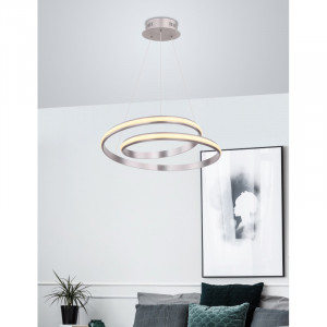 Pendul LED 30W Golli,lumina calda, flux luminos 2100 lm, nichel, 67843-30 Globo