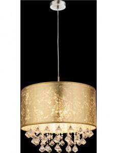 Pendul metalic cu cristale auriu, 1 bec, dulie E27, Globo 15187H3
