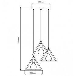 Pendul V-TAC, Trio, 3xE27