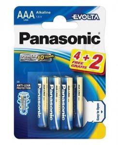 Set 6 baterii R3 AAA Alkaline, Panasonic Evolta