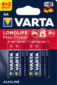 Set 6 baterii R6 AA Alkaline, Varta Max Power