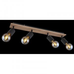 Spot Josella, lemn si metal, 4 becuri, dulie E27, 54033-4 Globo